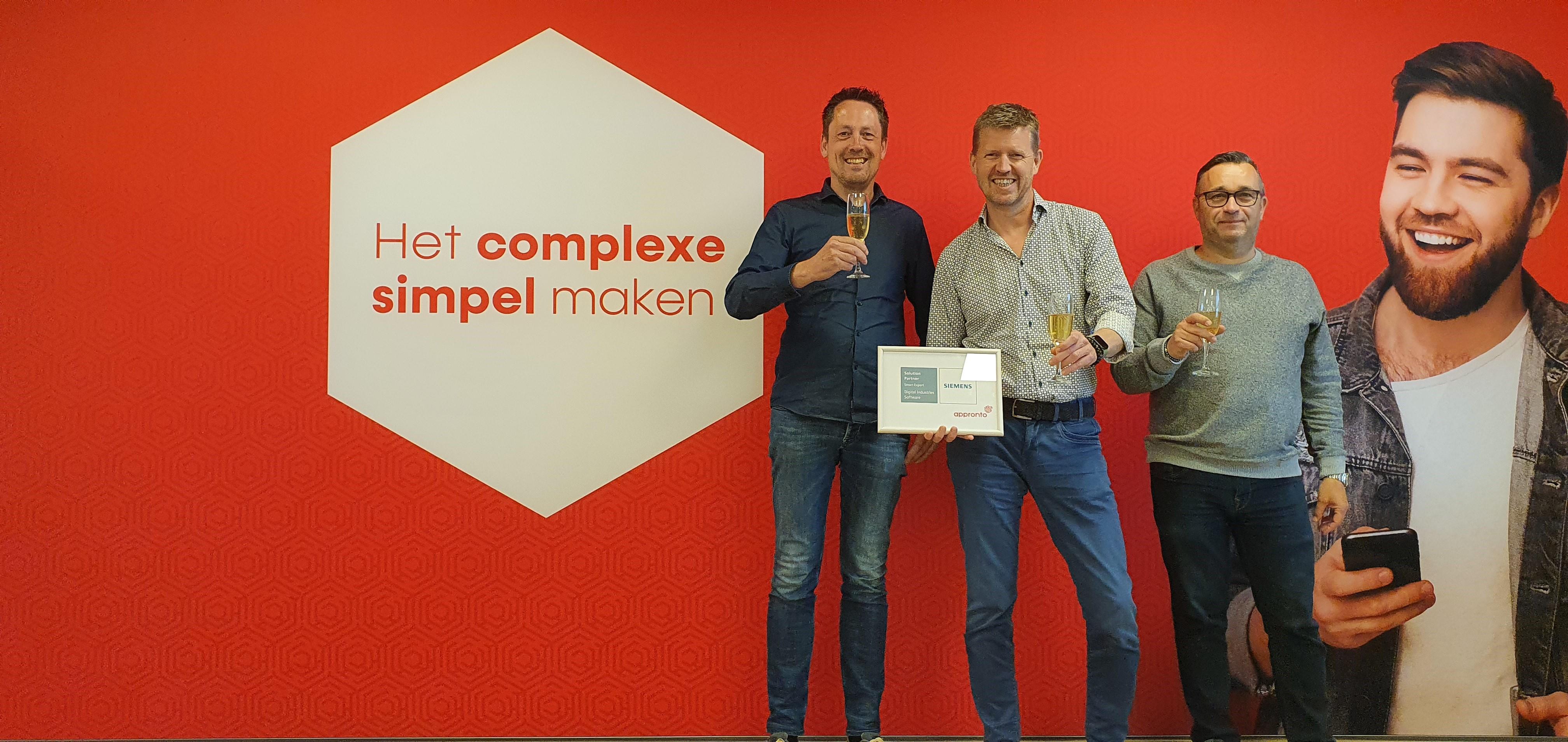 Appronto door Siemens Digital Industries Software benoemd  tot eerste Mendix Smart Expert Partner van Europa